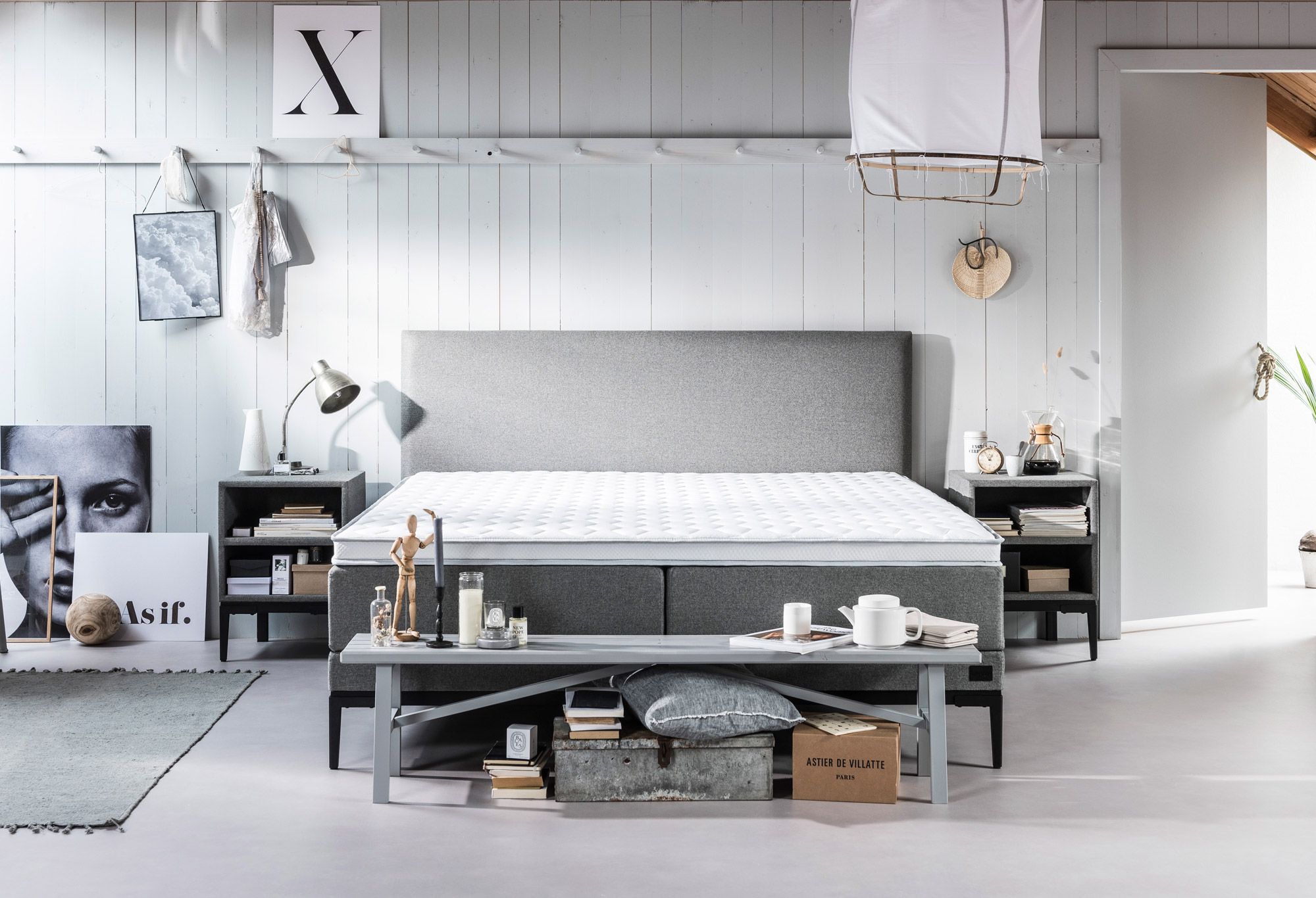 boxspringbett lifestyle by vtwonen thyme sofort. Black Bedroom Furniture Sets. Home Design Ideas